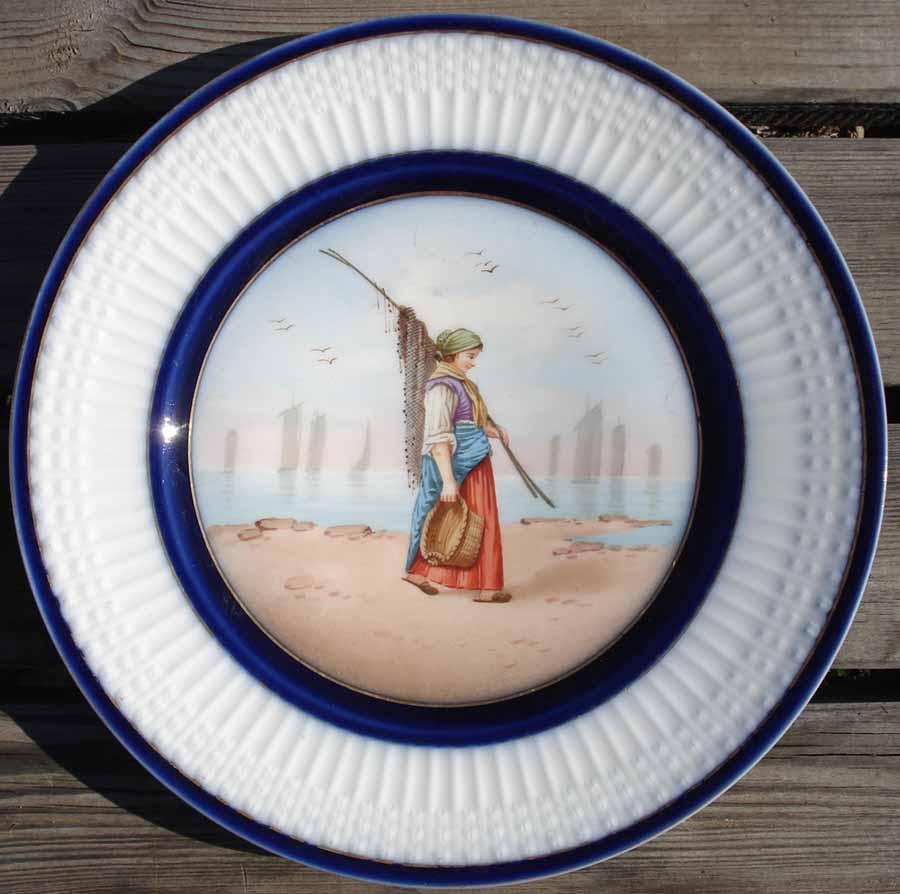 Les p cheuses de crevettes en normandie vers 1892 th haviland porcelaine limo - De haviland porcelaine ...