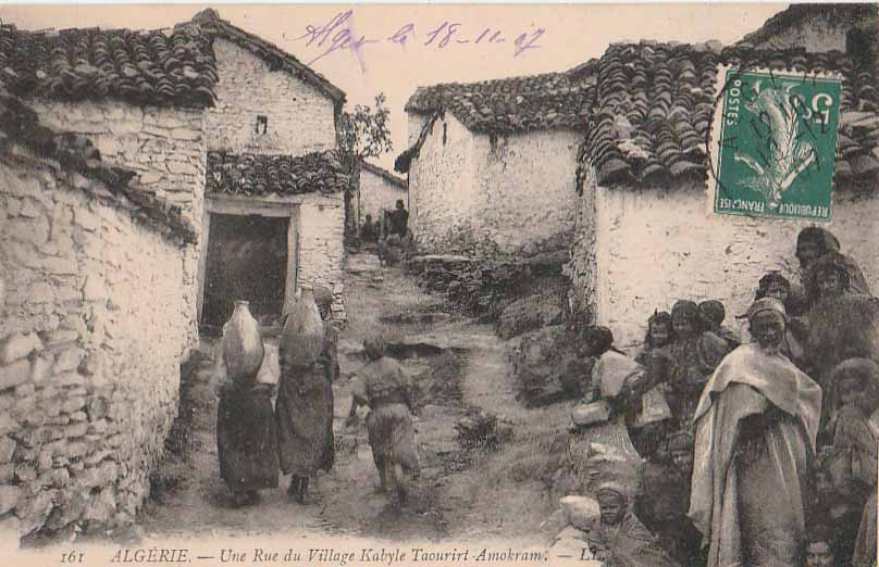-Carte Postale ancienne Algérie rue village Kabyle Taourirt Amokram vers 1900'   eBay